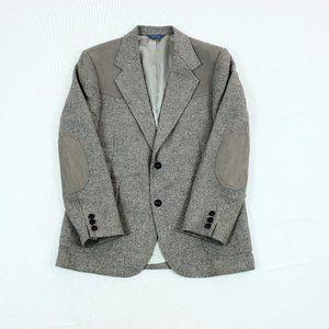 Vtg Pendleton Suede Leather Elbow Patch Sport Coat